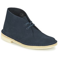 kengät Naiset Bootsit Clarks DESERT BOOT Blue