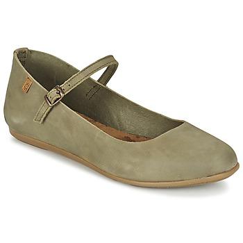 kengät Naiset Balleriinat El Naturalista STELLA Grey / Kaki
