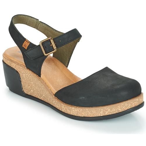 kengät Naiset Sandaalit ja avokkaat El Naturalista LEAVES Black