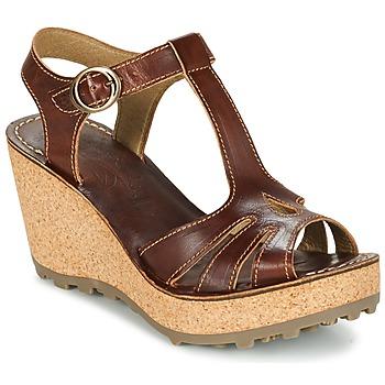 kengät Naiset Sandaalit ja avokkaat Fly London GOLDY Brown