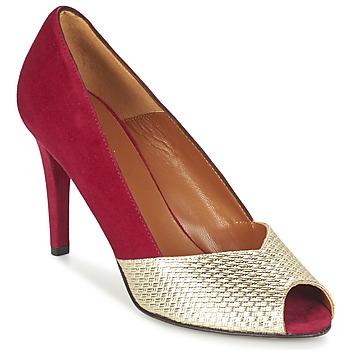 kengät Naiset Korkokengät Heyraud ELOISE Red / Gold