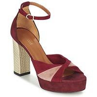 kengät Naiset Sandaalit ja avokkaat Heyraud EVELINE Red / Pink / Gold