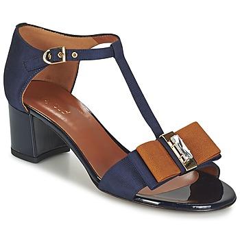 kengät Naiset Sandaalit ja avokkaat Heyraud ENAEL Blue / Brown / Black