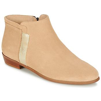 kengät Naiset Bootsit M. Moustache EMMANUELLE BEIGE / Silver
