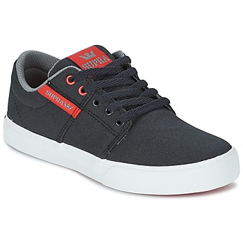 kengät Lapset Matalavartiset tennarit Supra KIDS STACKS II VULC Black / Red
