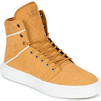 kengät Miehet Korkeavartiset tennarit Supra CAMINO Yellow
