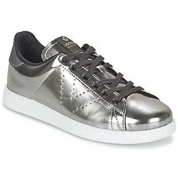 kengät Naiset Matalavartiset tennarit Victoria DEPORTIVO BASKET METALLISE Silver