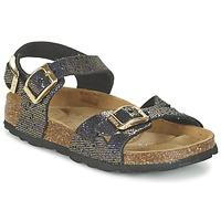 kengät Tytöt Sandaalit ja avokkaat Betula Original Betula Fussbett JEAN Black / Gold