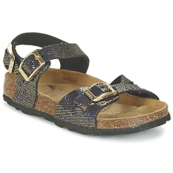 kengät Tytöt Sandaalit ja avokkaat Betula Original Betula Fussbett JEAN Musta / Kulta
