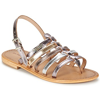 kengät Naiset Sandaalit ja avokkaat Les Tropéziennes par M Belarbi HERISSON Argenté / Monivärinen