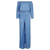 vaatteet Naiset Jumpsuits / Haalarit MICHAEL Michael Kors TENCEL OFF SHDR JUMPSUIT Blue