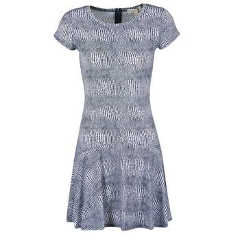 vaatteet Naiset Lyhyt mekko MICHAEL Michael Kors ZEPHYR SS FLARE DRS Blue / White