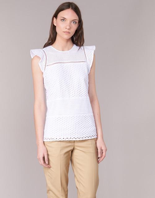 vaatteet Naiset Topit / Puserot MICHAEL Michael Kors COMBO EYELET S/S White