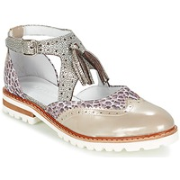 kengät Naiset Derby-kengät Regard ROAXO Beige / Hopea