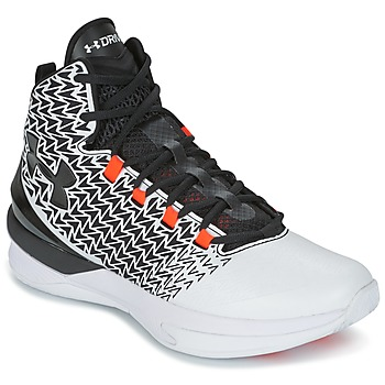 kengät Miehet Koripallokengät Under Armour UA ClutchFit Drive 3 White / Black / Orange