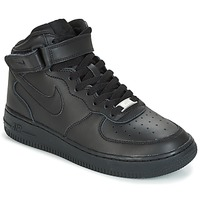 kengät Lapset Korkeavartiset tennarit Nike AIR FORCE 1 MID 06 JUNIOR Black
