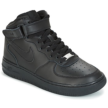 kengät Pojat Korkeavartiset tennarit Nike AIR FORCE 1 MID 06 JUNIOR Black