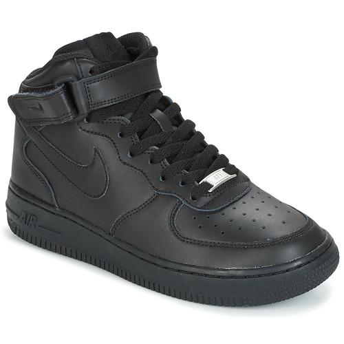newest 5359d 7ffef kengät Lapset Korkeavartiset tennarit Nike AIR FORCE 1 MID 06 JUNIOR Black