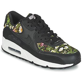 kengät Naiset Matalavartiset tennarit Nike AIR MAX 90 SE W Black
