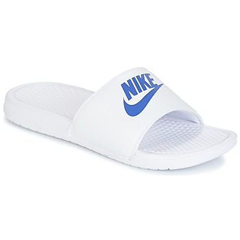 kengät Miehet Rantasandaalit Nike BENASSI JUST DO IT White / Blue