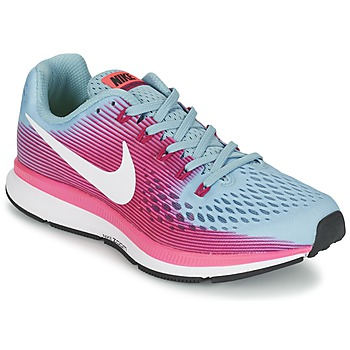 kengät Naiset Juoksukengät / Trail-kengät Nike AIR ZOOM PEGASUS 34 Blue / FUKSIA
