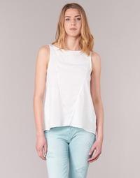 vaatteet Naiset Hihattomat paidat / Hihattomat t-paidat Desigual ROMINESSA White