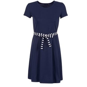 vaatteet Naiset Lyhyt mekko Petit Bateau FLARE Laivastonsininen