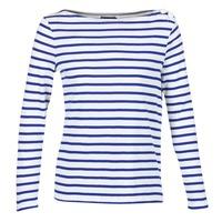 vaatteet Naiset T-paidat pitkillä hihoilla Petit Bateau FIX White / Blue