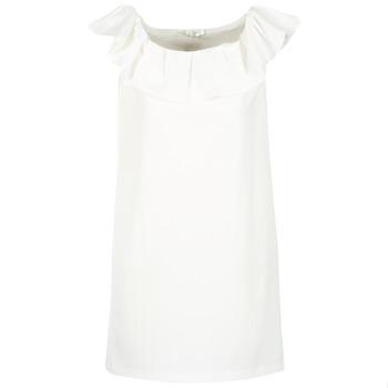 vaatteet Naiset Lyhyt mekko See U Soon 7123017 Valkoinen
