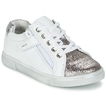 kengät Pojat Matalavartiset tennarit Babybotte KRAZY White / Silver