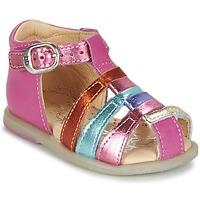 kengät Tytöt Balleriinat Babybotte TIKALOU Pink / Monivärinen