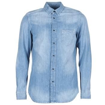 vaatteet Miehet Pitkähihainen paitapusero Diesel D CARRY Blue