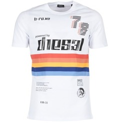 vaatteet Miehet Lyhythihainen t-paita Diesel T JOE OB White
