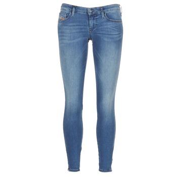 vaatteet Naiset Skinny-farkut Diesel SKINZEE LOW ZIP Blue