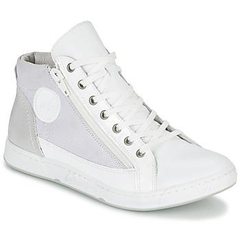 kengät Naiset Korkeavartiset tennarit Pataugas JANE/BB F2C White