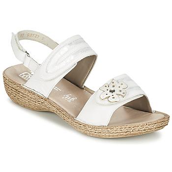 kengät Naiset Sandaalit ja avokkaat Rieker MIOLOI White