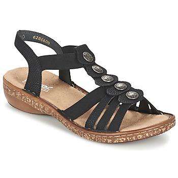 kengät Naiset Sandaalit ja avokkaat Rieker MECHAROLO Black