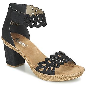 kengät Naiset Sandaalit ja avokkaat Rieker POTIRASSE Black