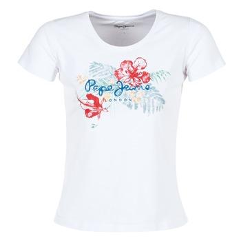 vaatteet Naiset Lyhythihainen t-paita Pepe jeans AMBER White
