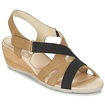 kengät Naiset Sandaalit ja avokkaat Rondinaud COLAGNE Beige / Black