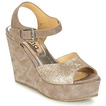 kengät Naiset Sandaalit ja avokkaat Myma RAPHIA Taupe