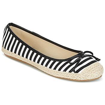 kengät Naiset Balleriinat Wildflower Luck Black / White