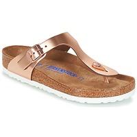 kengät Naiset Varvassandaalit Birkenstock GIZEH SFB Bronze