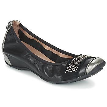 kengät Naiset Balleriinat Mam'Zelle FADILA Black / Silver