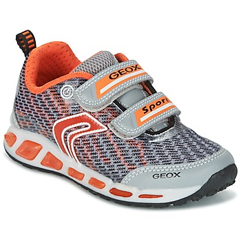 kengät Pojat Matalavartiset tennarit Geox J SHUTTLE B.A Grey / Orange