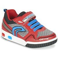 kengät Pojat Matalavartiset tennarit Geox J GREGG B Red / Blue