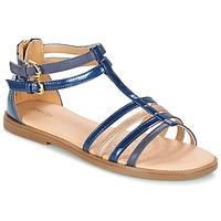 kengät Tytöt Sandaalit ja avokkaat Geox J S.KARLY G. D Laivastonsininen