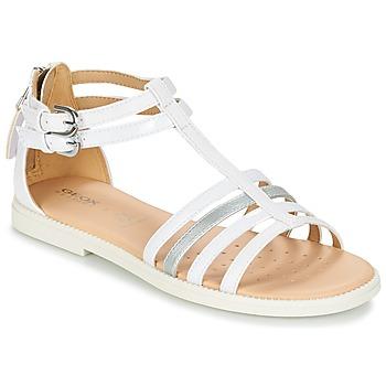 kengät Tytöt Sandaalit ja avokkaat Geox J S.KARLY G. D White