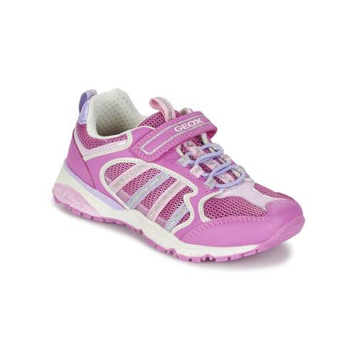 kengät Tytöt Matalavartiset tennarit Geox J BERNIE G. A Pink / Lila