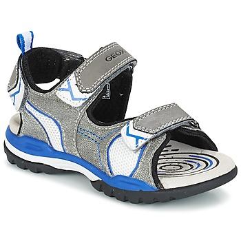kengät Pojat Urheilusandaalit Geox J BOREALIS B. D Grey / Blue